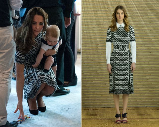Sadly, Duchess Kate's Tory Burch dress is not available in Singapore  either; the frock
