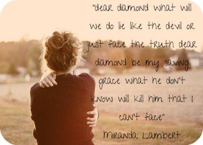 Dear Diamond Miranda Lambert Miranda Lambert Lyrics Miranda