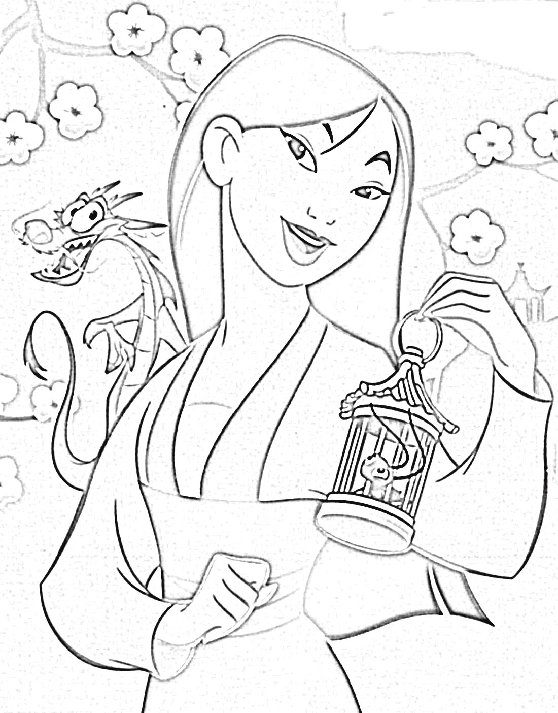 disney mulan and friends coloring pages coloring 4 pinterest