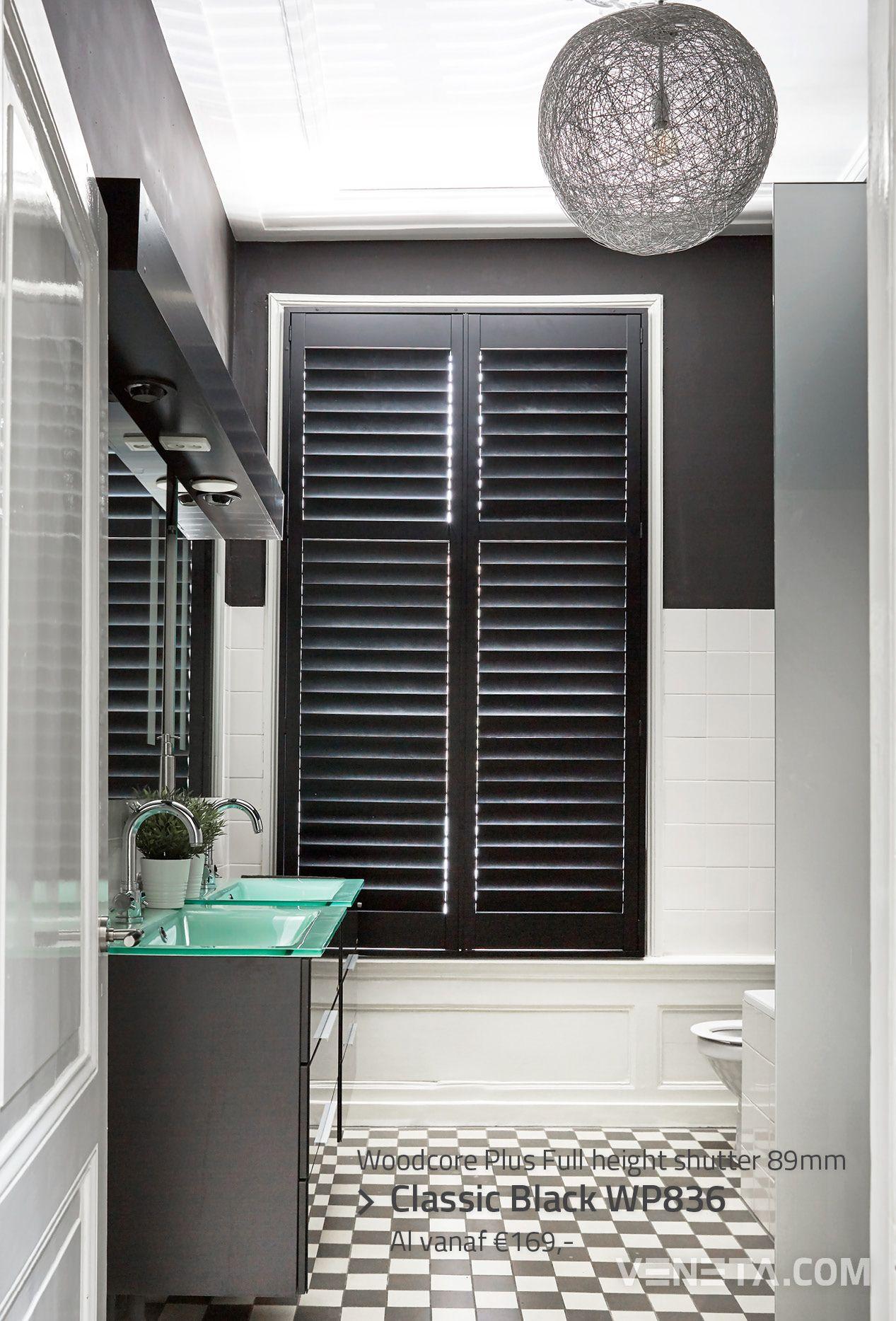 De ultieme klassieke badkamer houten shutters