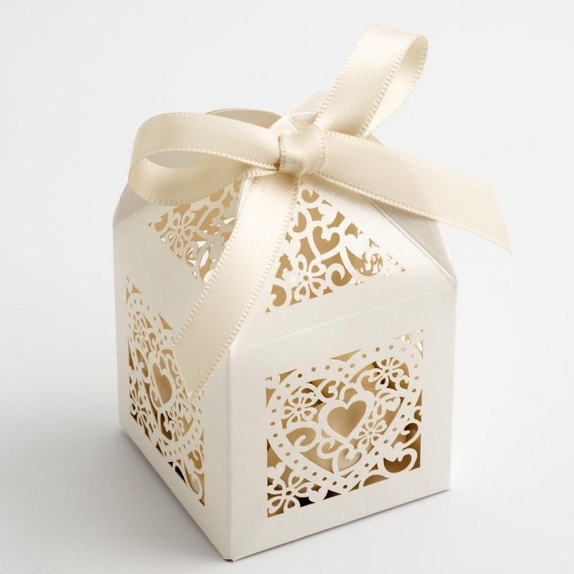 Add To The Elegance Of Your Special Day With Gorgeous Ivory Filigree Heart Favour Bo Perfect For Putting Small Wedding Favours Or Tasty Treats