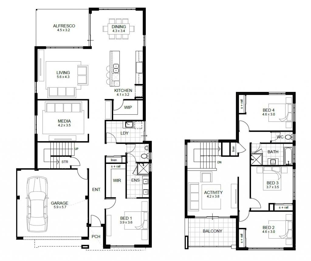 Image Result For Townhouse Design Two Story Two Storey House Plans Double Story House Luxury House Plans