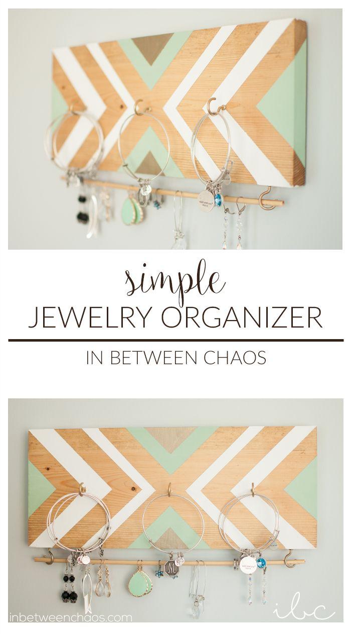 Create A Simple Jewelry Organizer Inbetweenchaos Com