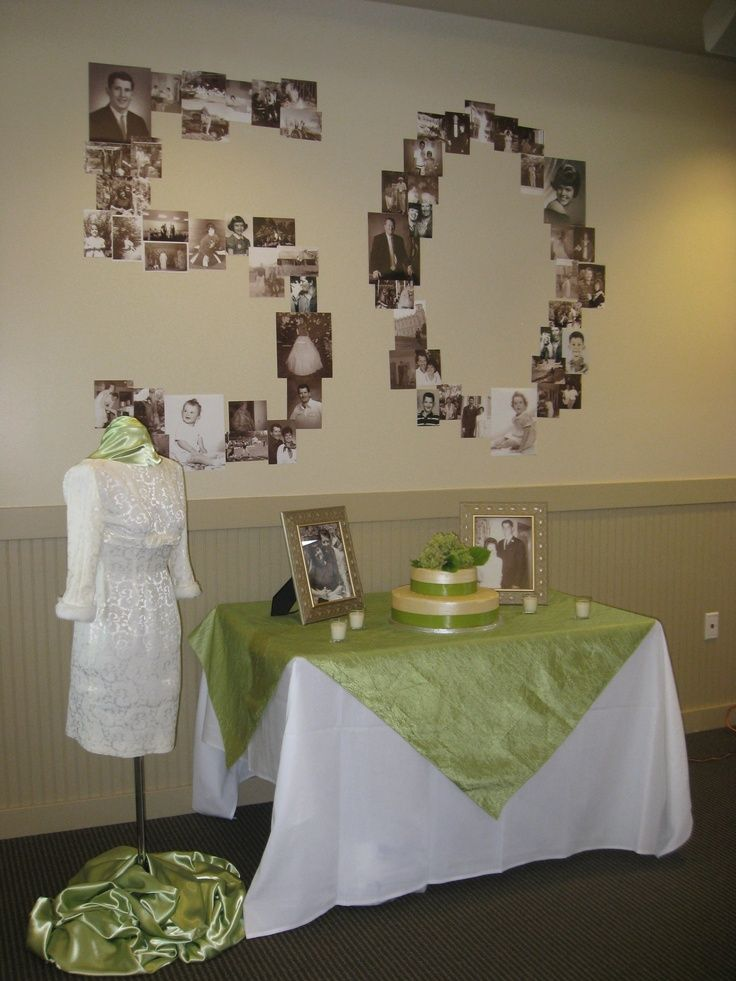 Mom and Dad\'s 50th Wedding Anniversary | 50th Party ideas | 50th ...