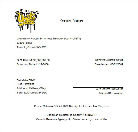 Receipt Template , Receipt Template Doc for Word Documents in - official receipt sample