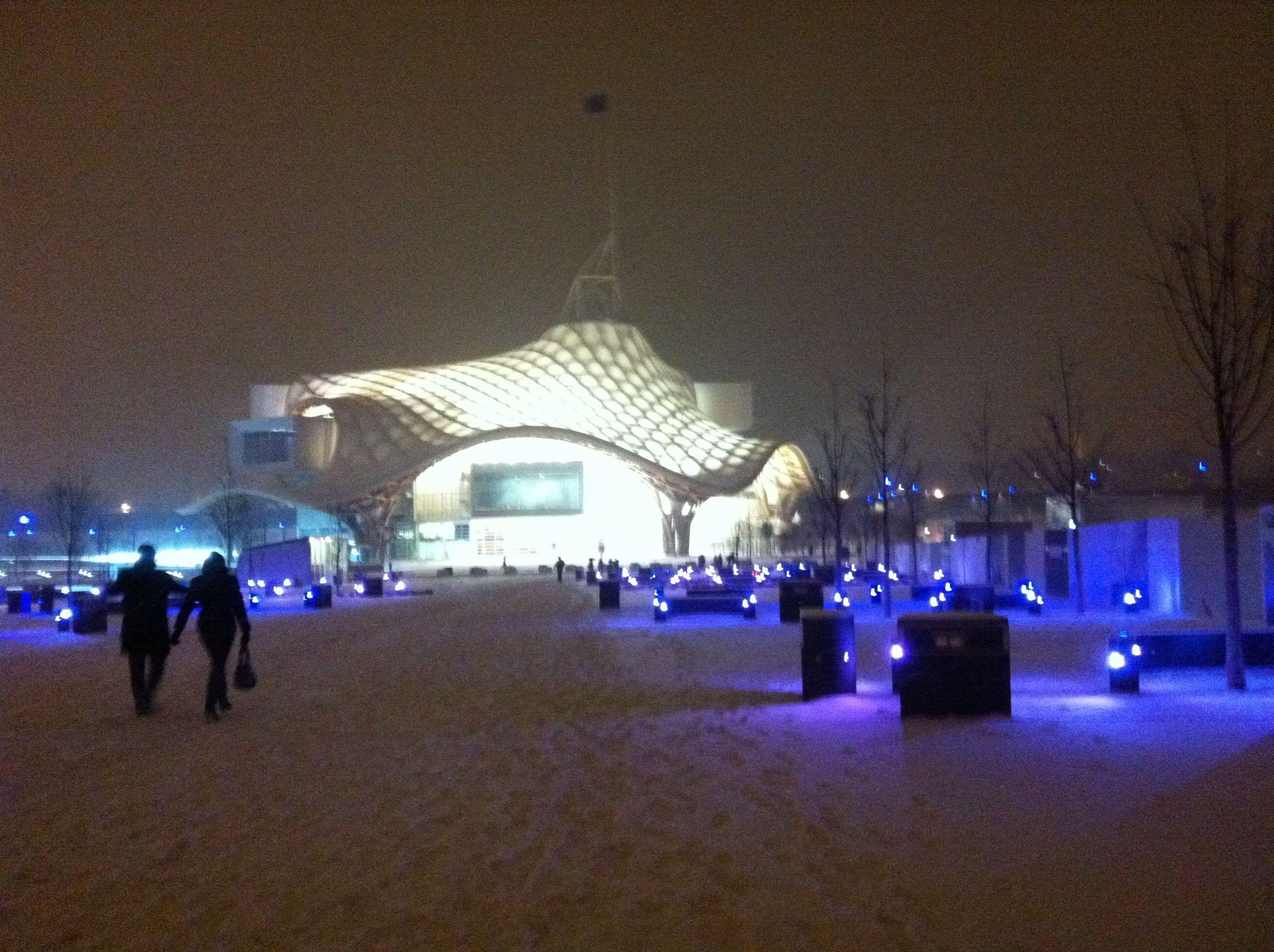 Le centre Pompidou de Metz sous la neige - Metz Jyvai