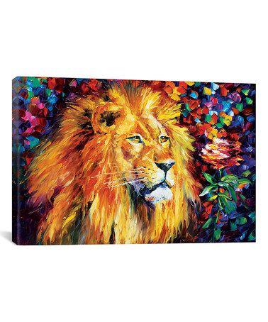 Look what I found on #zulily! Leonid Afremov Lion Gallery-Wrapped Canvas #zulilyfinds