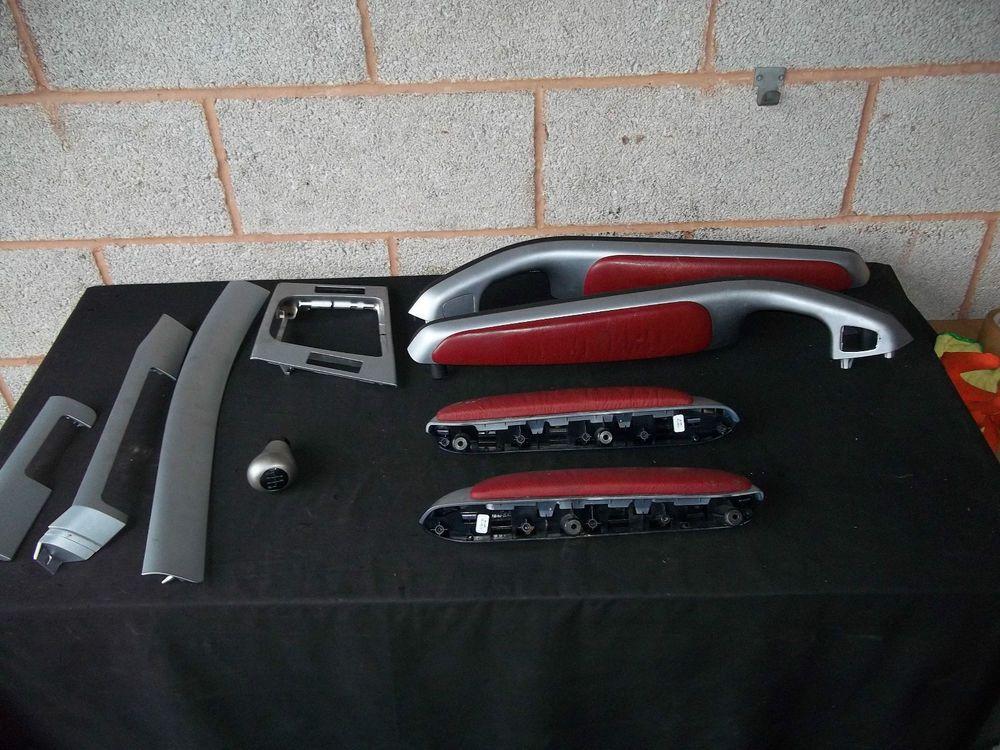 Bmw E46 Dash Trim Coupe 9 Pieces Silver And Red Interior Trim 3 Series 25356 Bmw Parts We