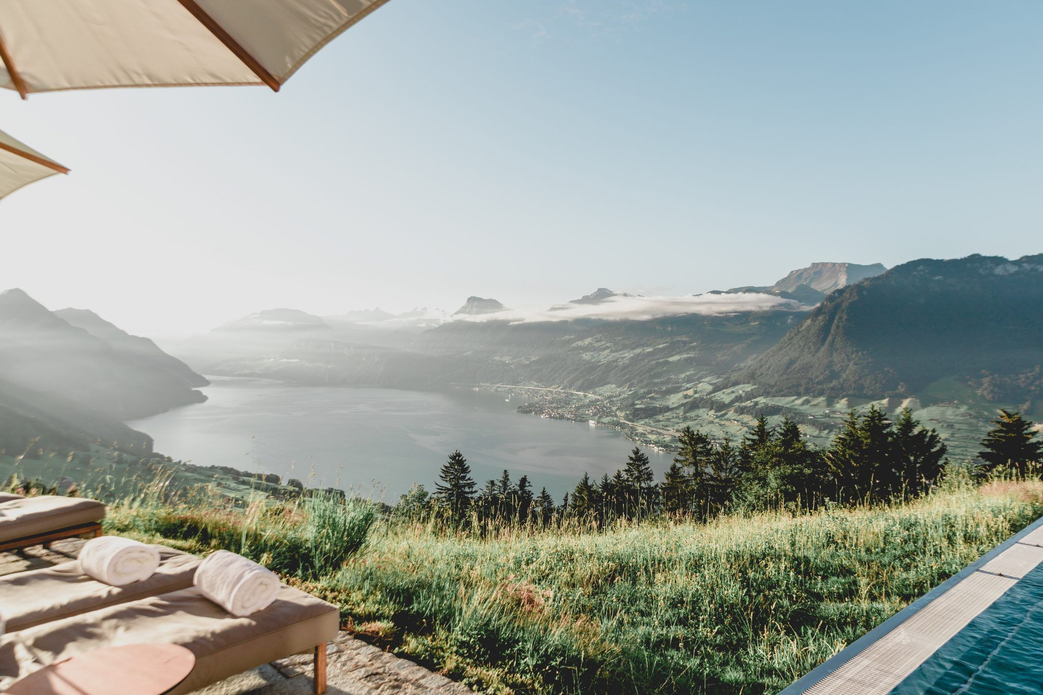 Best Hotel In Switzerland With Infinity Pool Staying At Villa Honegg The Best Boutique Hotel In Switzerland Charlies Wanderings In 2020 Switzerland Hotels Best Boutique Hotels Villa Honegg