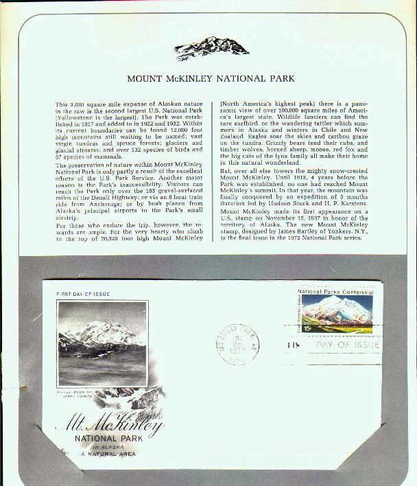 1972 Mt. McKinley National Park in Alaska, MC Kinley Park ...