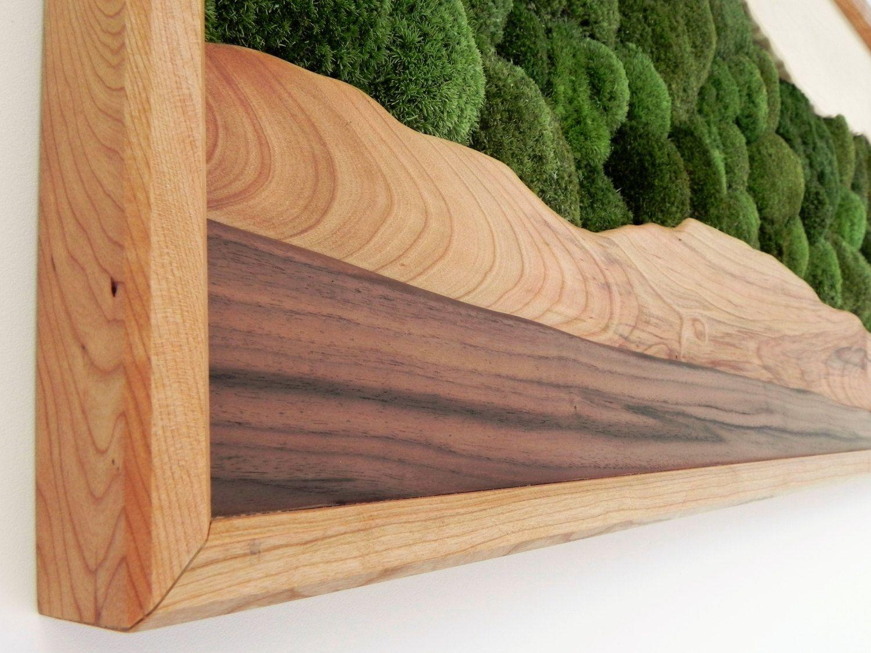 Green mountain moss wall art sugar maple cherry walnut
