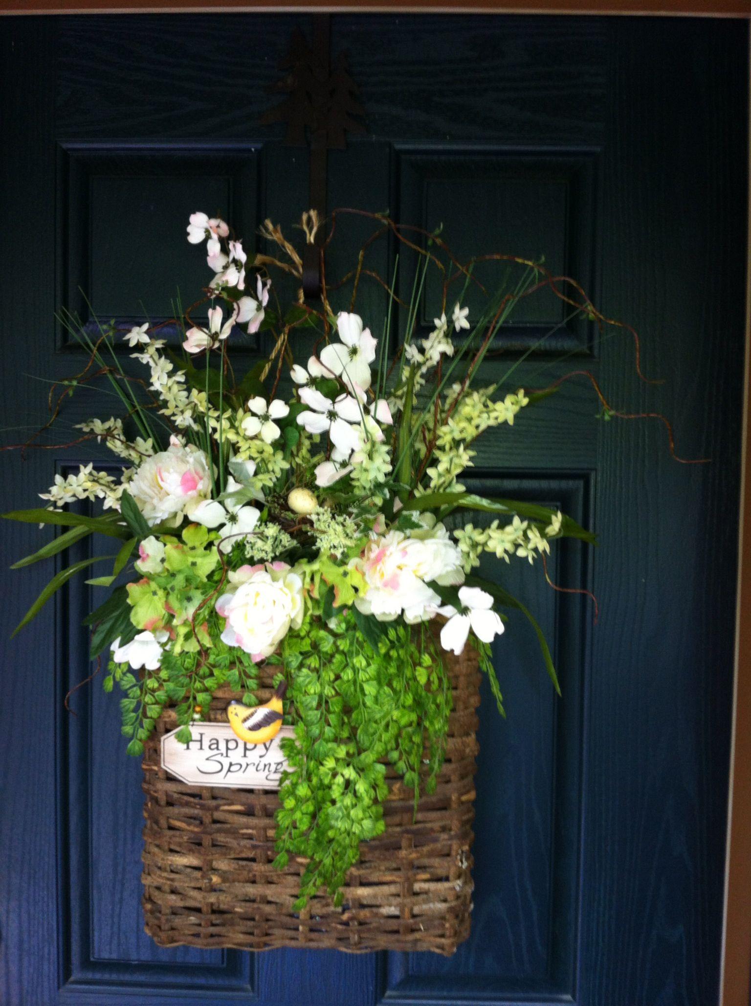 Front door ...spring basket & Front door ...spring basket | Sandi | Pinterest | Front doors Doors ...