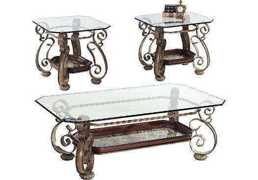 newkirk gray 3 pc table set metal
