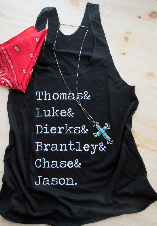 8caf13b47a2a3e Country Boys  Country Tank  Thomas Luke Dierks Brantley Chase Jason by  dirtroadavenue on Etsy