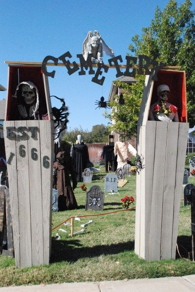 coffin cemetery entrance