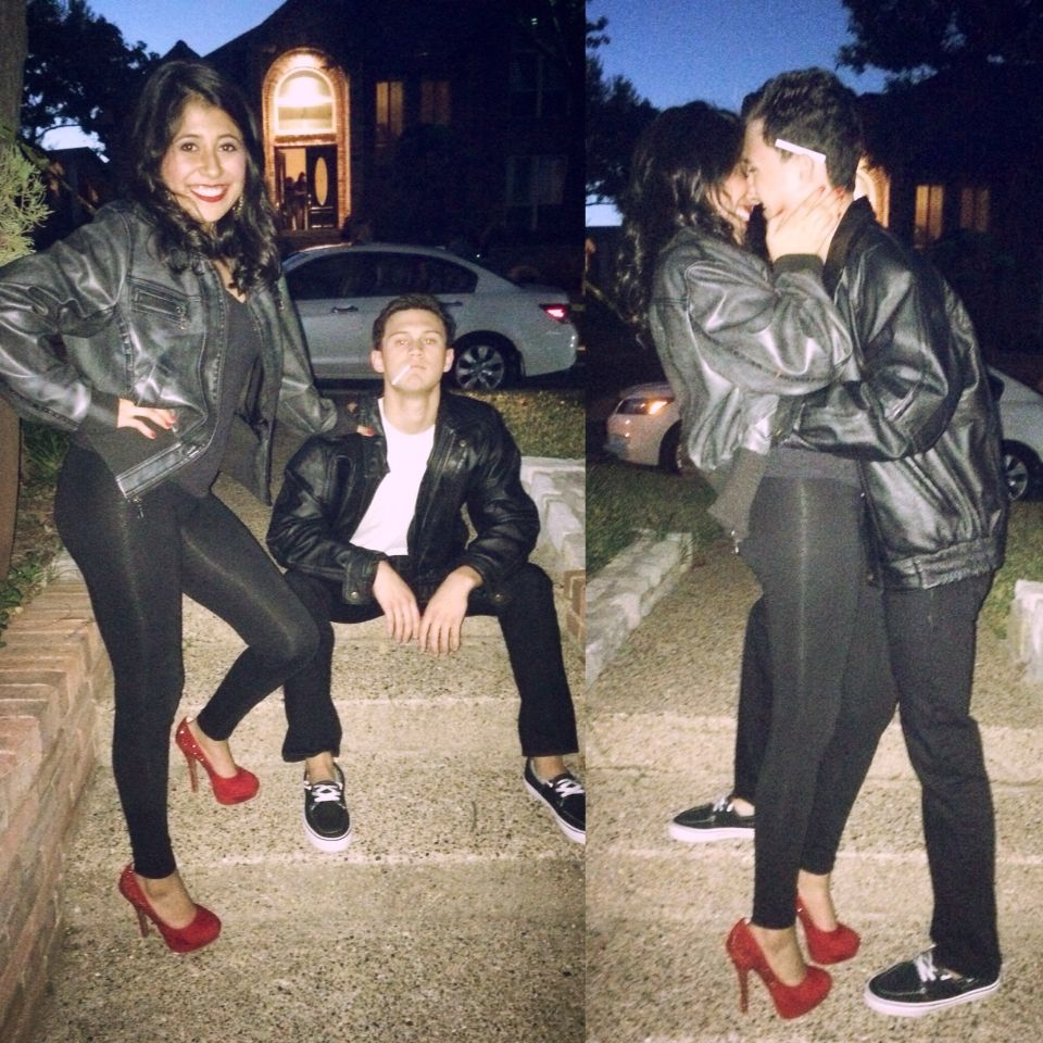 Sandy And Danny Halloween Costume Grease Lightning Halloween Outfits Sandy And Danny Halloween Costumes