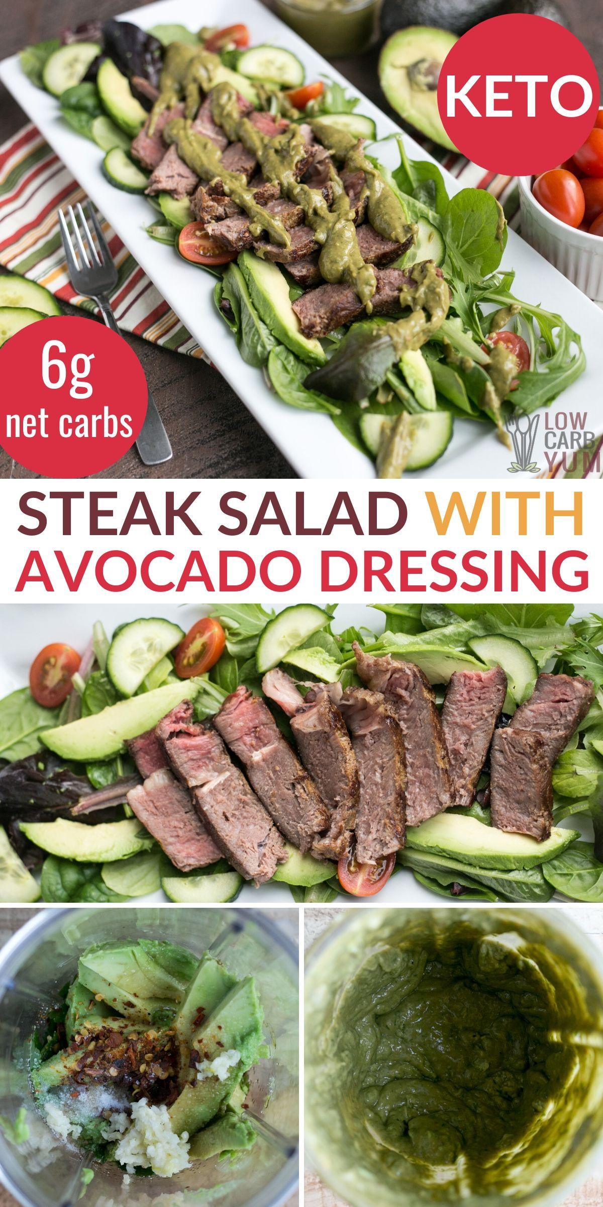 Keto Steak Salad In 2020 Low Carb Salad Steak Salad Beef Recipes