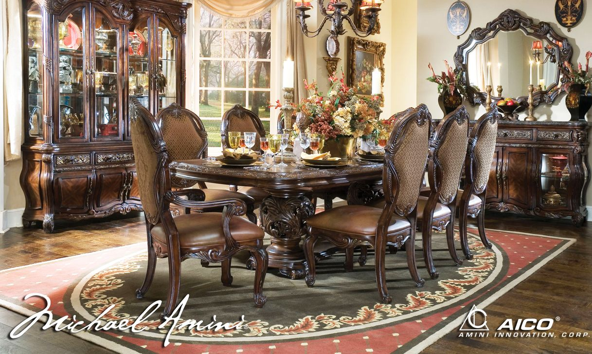Beau AICO Essex Manor Dining Table Set In Deep English Tea   Formal Dining Sets    Dining Sets By Dining Rooms Outlet