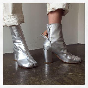 4421f1de49d Maison margiela Silver Tabi Boots in Silver