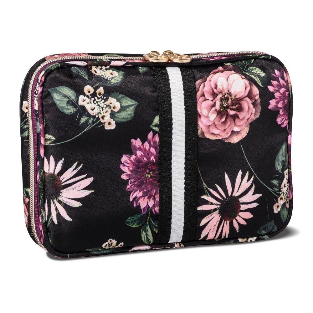 Sonia Kashuk Cosmetic Bag Always Organized Dark Floral