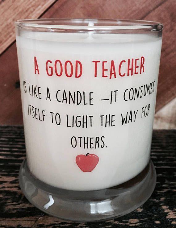 Teacher Candle Gift Gift for Daycare Teacher Teacher Appreciation Gift Mason Jar Candle 8oz Soy Candle School Teacher Gift