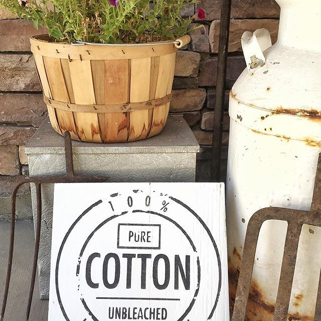 We love our cotton laundry sign!!!! This is perfect for your laundry room shelf! 12x12 $18 . Add a stained brown frame for only $2!  #farmhouselove #farmhousedecor #farmhouselaundryroom #laundryroomdecor #smallbusiness #farmhouselaundry #laundryroom #cottonlover #cottonlaundrysign #cottagelanecreations
