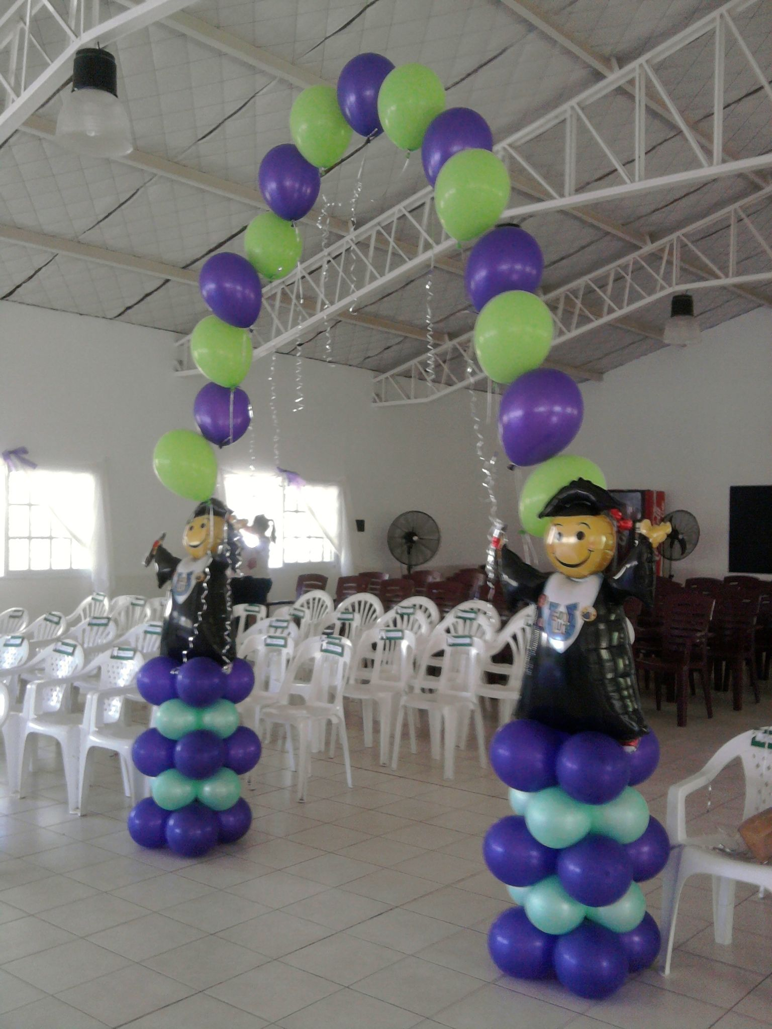 Graduation balloon arch balloon arches decoration for Balloon decoration graduation
