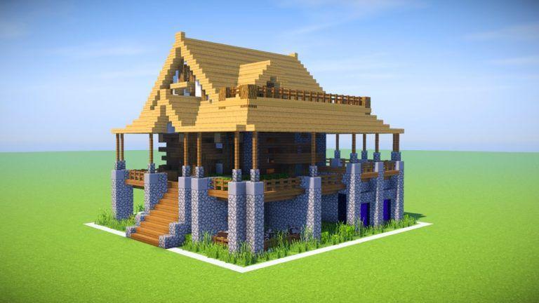 Minecraft Big Survival House Tutorial Minecraft How To Build A Survival House Tutorial That Minecraft Mansion Easy Minecraft Houses Minecraft House Designs