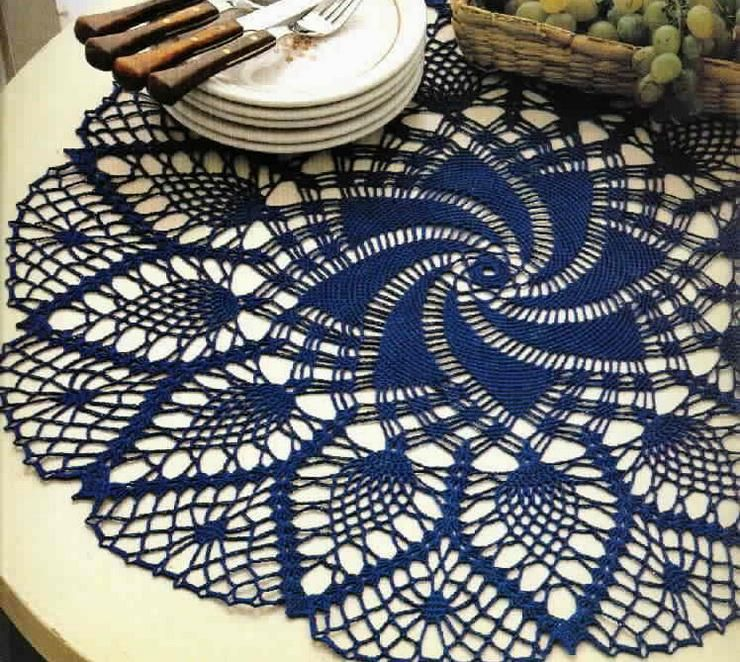 Crochet Art: Crochet Tablecloth Pattern Free - Elegant Decorative ...