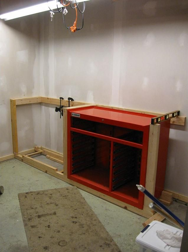 Workbench To House 44 Quot Hf Tool Cabinet The Garage