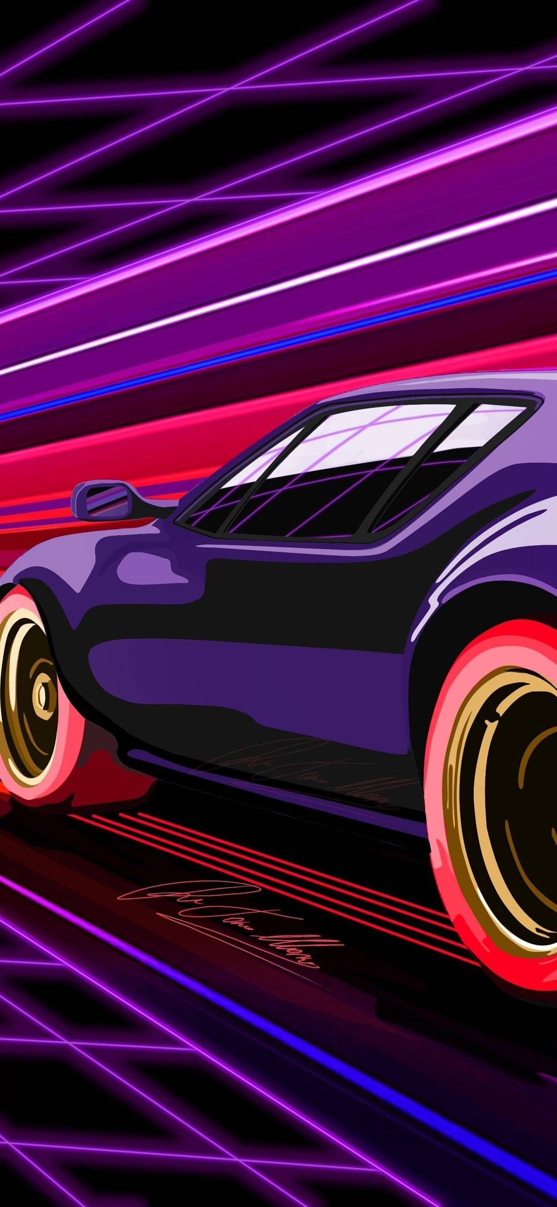Retro Racing Muscle Car Iphone X Iphone Wallpapers Vaporwave