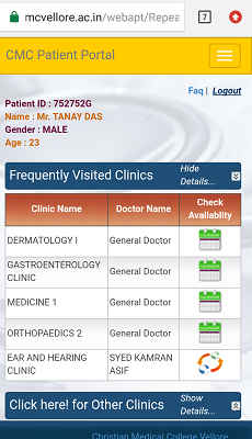 By Photo Congress || Cmc Vellore Online Appointment For Patient