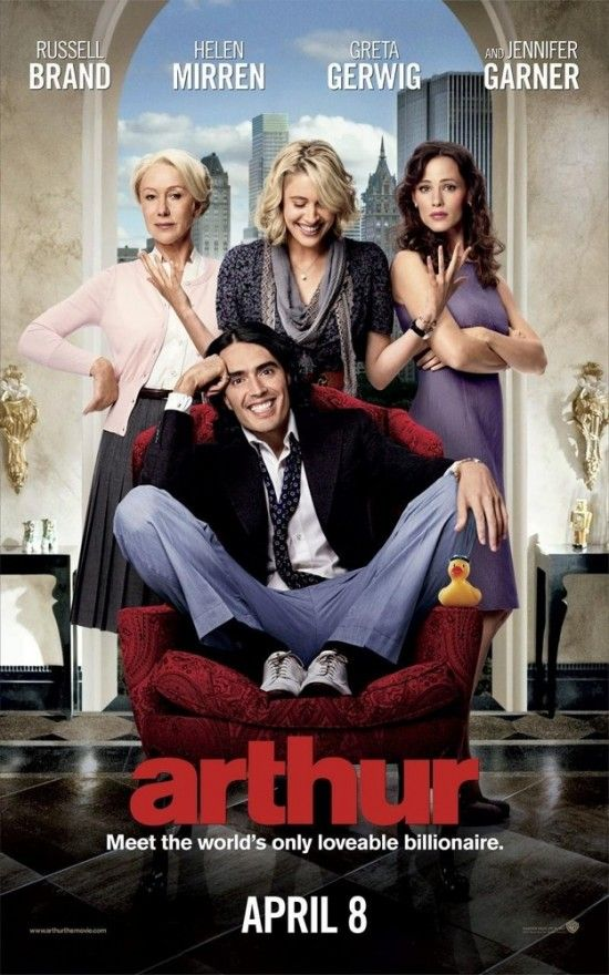 Arthur~ A Touching Story About A Man With Peter Pan Syndrome That Drinks A Lot. It's Mostly Funny But Their Is Some Cry Worthy Spots.