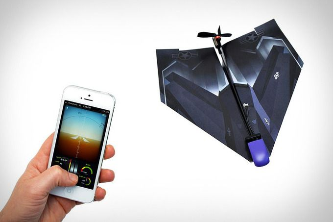PowerUp 3.0 iPhone-Controlled Paper Airplane by Uncrate
