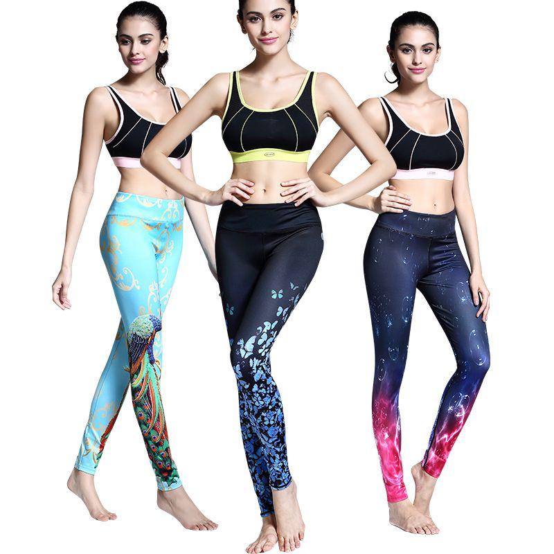 체육관 새로운 여자 yoga 바지 압축 스타킹 레깅스 실행 바지 3d 인쇄 스포츠 바지 피트니스 여성 슬림 운동
