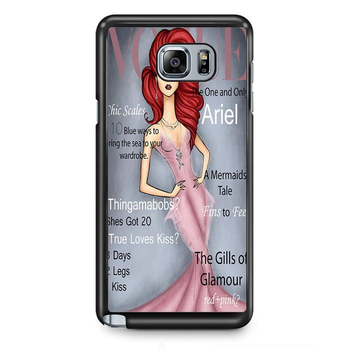 Ariel Behind The Little Mermaid TATUM-888 Samsung Phonecase Cover Samsung Galaxy Note 2 Note 3 Note 4 Note 5 Note Edge