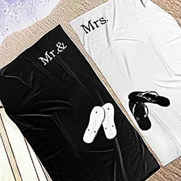 Matching Mr And Mrs Beach Towel Set With Images Beach Towel