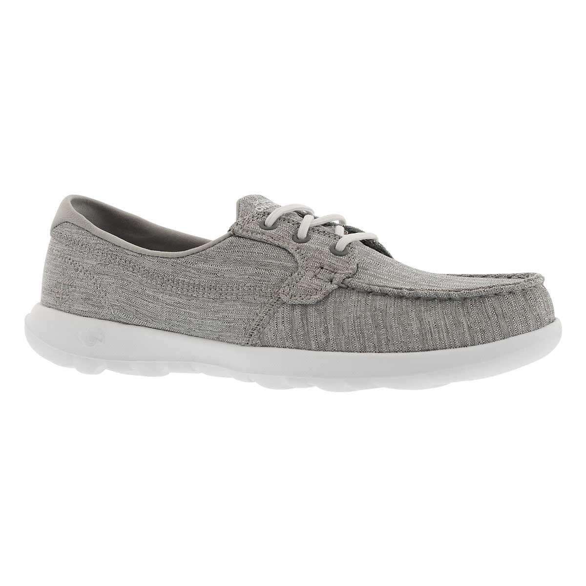 Lds GO Walk Lite grey boat shoe