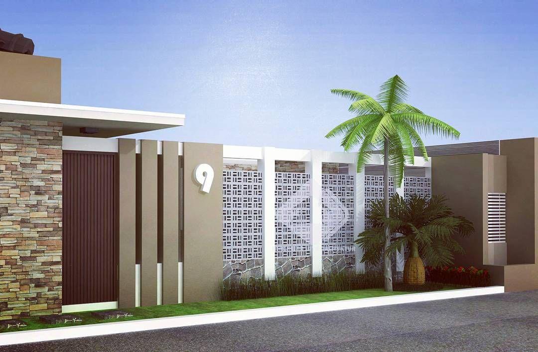 Desain Pagar Rumah Mewah Desain Eksterior Arsitektur Ide Pagar