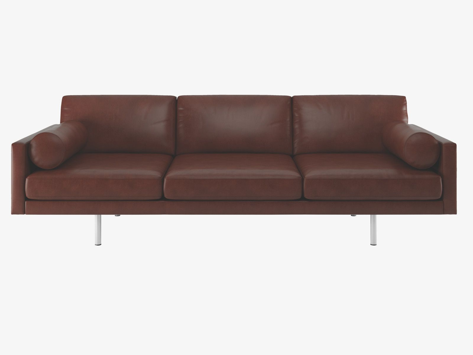 Brown Leather Sofa On Legs Large Chaise Spencer Tan 4 Seater Metal