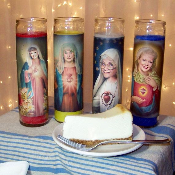 COMPLETE SET Golden Girls Prayer Candles complete by VegasGiblet