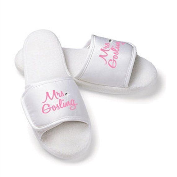 7aa3f76727c2 Custom MRS. Fluffy Slippers for the bride