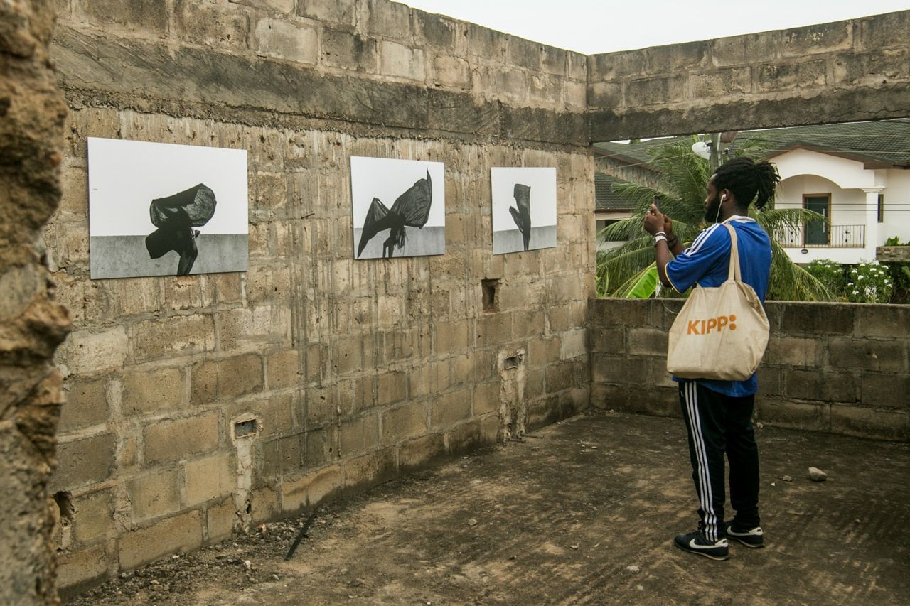 In Accra, abandoned buildings open air art galleries