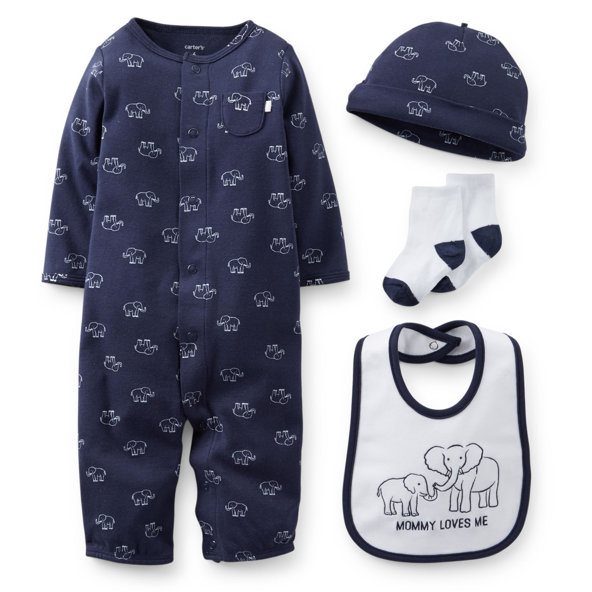 New Carters Baby Clothing Outfit Boys 4pc Layette Set Navy Blue