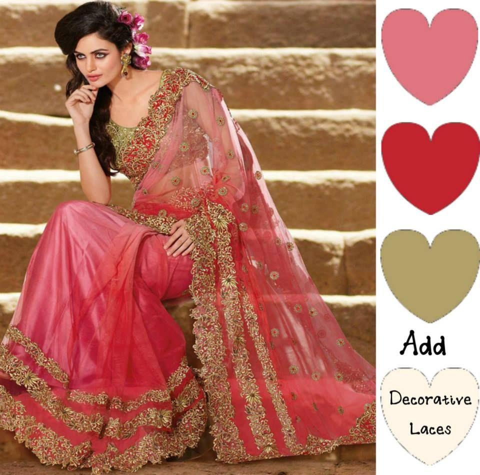 Creative colors ccc saree pinterest saree