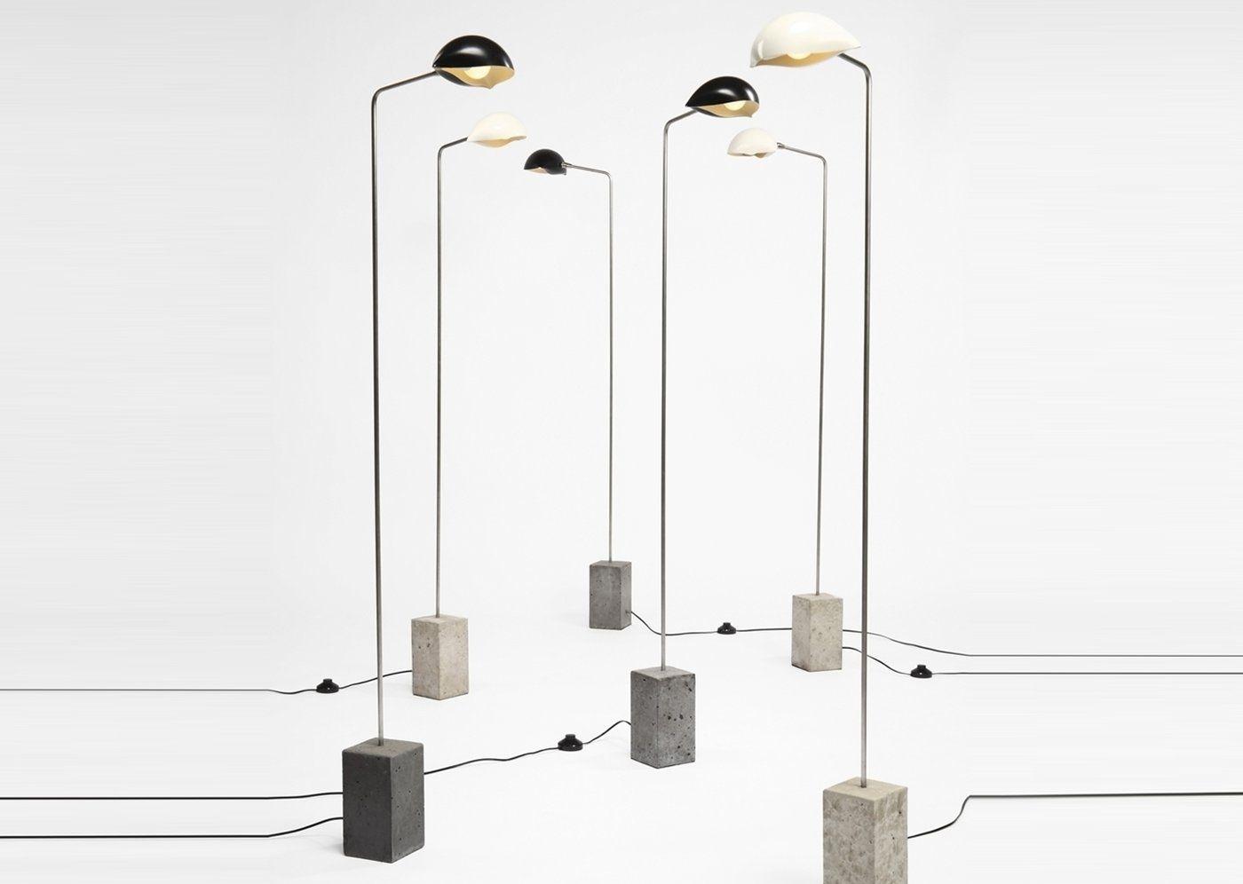 Cement Standing Lamp Iluminacao Coisas Legais