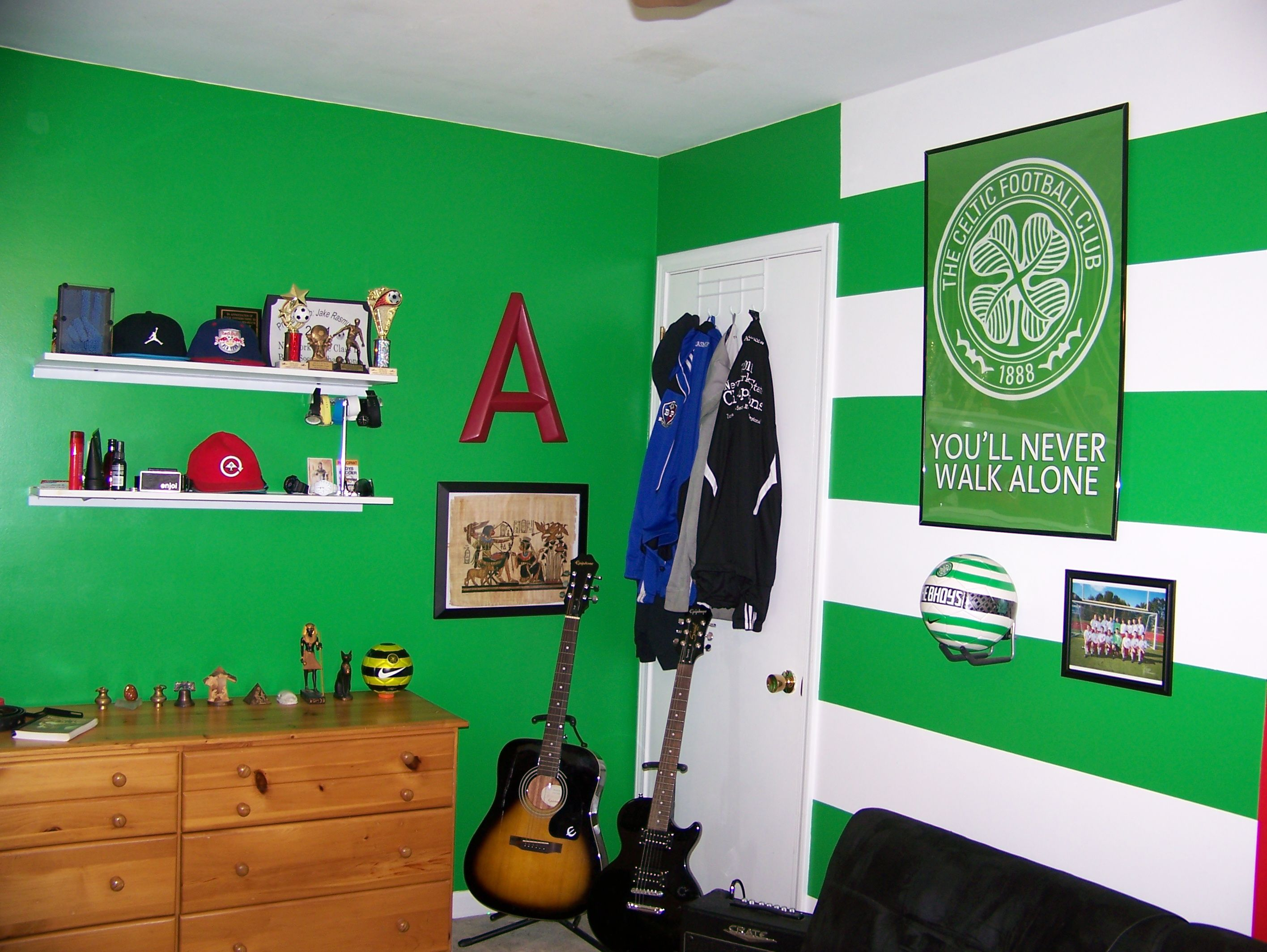 Celtic Fc Hoops And Colors Painted And Decorated In Adams