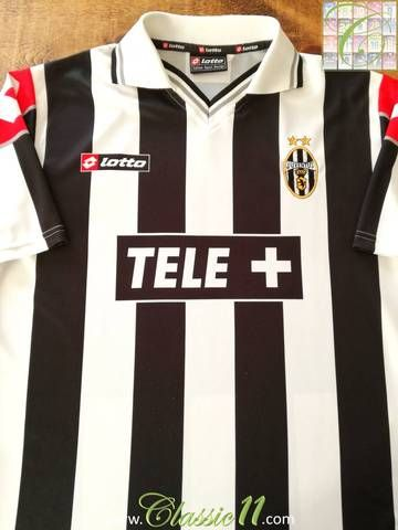 7e3370b14a5 Official Lotto Juventus home football shirt from the 2000/01 season. Jersey  featuring 'Ciaoweb' sponsor - used for domestic league games.