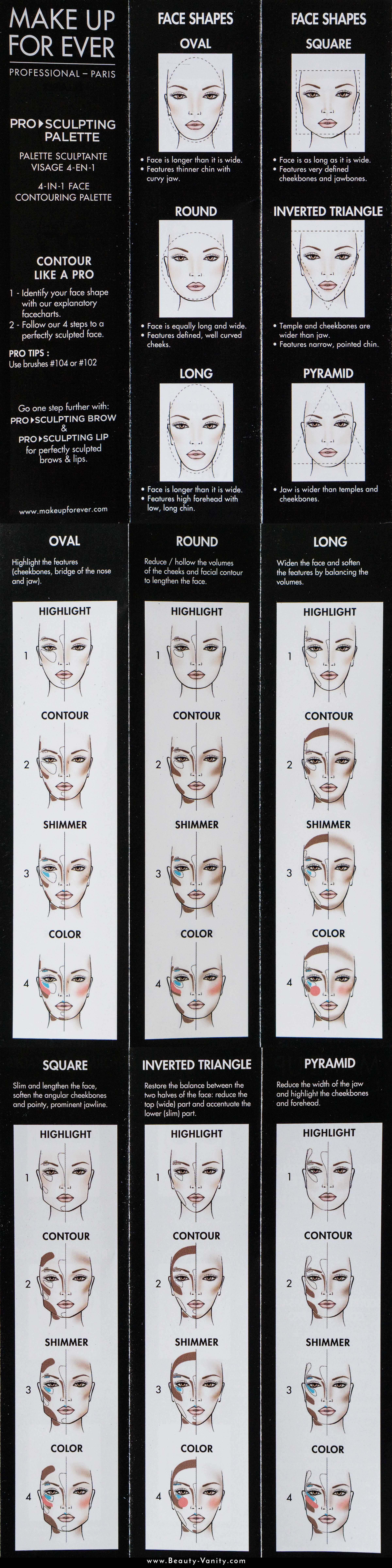 Make Up For Ever Pro Sculpting Face Palette Review ...