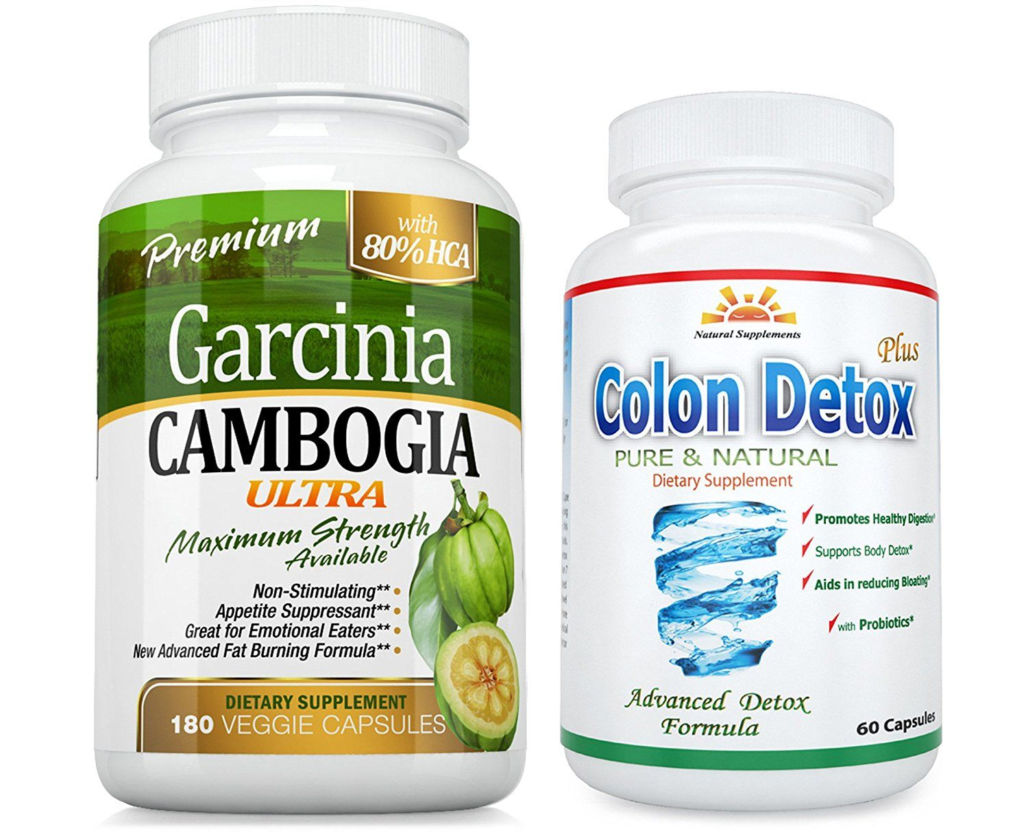 180 Caps 80 Hca Garcinia Cambogia Ultra Pure Extract Colon Detox